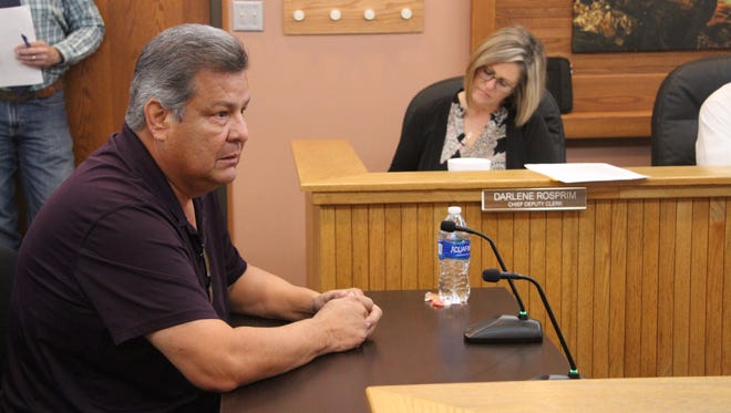 Former Eddy County Commissioner Tony Hernandez address the county commission Tuesday, Dec. 5, 2017. Commissioners voted 3 to 2 to approve an ordinance to regulate RV park and man camps in the county.