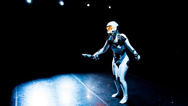"""Hesper Juhnke walks the floor of the Mariana Trench in Quasimondo's """"The Depths."""""""