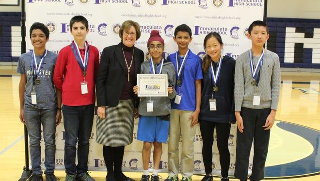 Students from Green Brook Middle School took top honors in Immaculata High School's recent Scholastica competition.