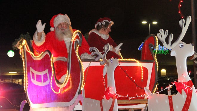 Santa and Mrs. Clause was the anticipated highlight for all the Alamogordo residents at Saturday's parade.