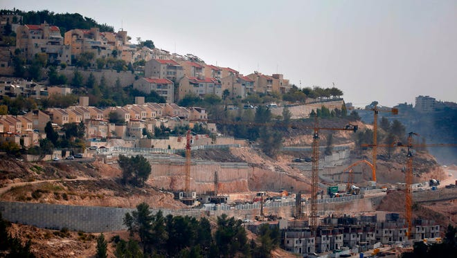 A picture taken on Nov. 8, 2017 shows a general view of construction work in Gilo, a Jewish settlement in the mainly Palestinian eastern sector of Jerusalem.