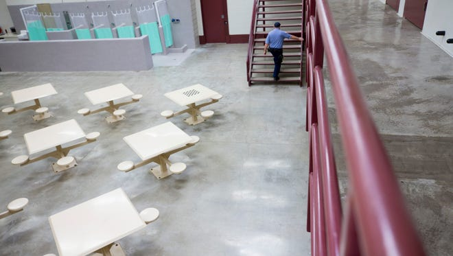 The interior of the jail at CoreCivic Florence Complex on Dec. 14, 2017.