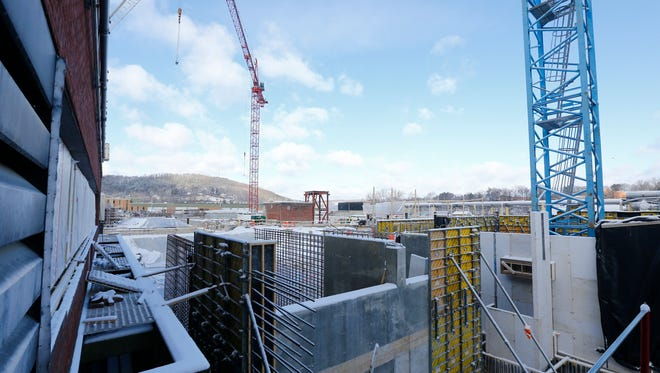 A view of the construction at the Binghamton Johnson City Wastewater Treatment Plant in Vestal on Thursday, December 14, 2017.
