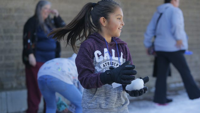Cesar Chavez Library in Salinas hosted its annual Snow Day.