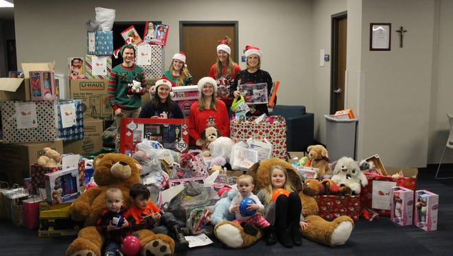 Marian University Student Nurses Association collected over 2,000 gifts and donations and delivered them to St. Agnes Hospital in Fond du Lac, Children's Hospital of Wisconsin in Milwaukee and Neenah to children hospitalized over the holidays.