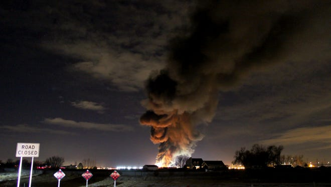 An explosion at an oil and gas site in Weld County injured one worker Friday.