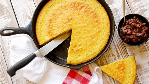 Buttermilk cornbread is even better in a cast-iron