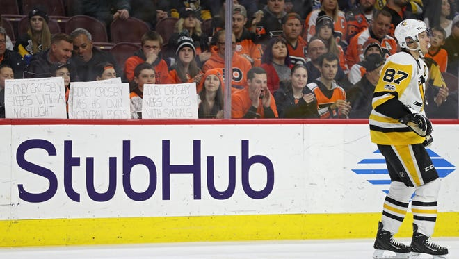 Flyers fans have made Wells Fargo Center unwelcome territory for Sidney Crosby.