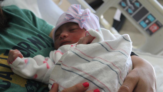 Irma Gonzalez Garcia and Joel Chavéz welcomed baby Brittany on the first day of 2018.