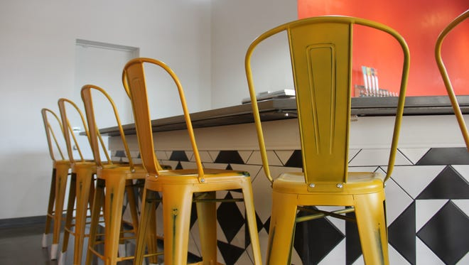 The bar chairs at Xicha Brewing are brightly colored, like much of the restaurant and brewery. Xicha will serve a full Latin American-inspired menu, as well as several housemade beers. The bar chairs at Xicha Brewing are brightly colored, like much of the restaurant and brewery. Xicha will serve a full Latin American inspired menu, as well as several housemade beers.