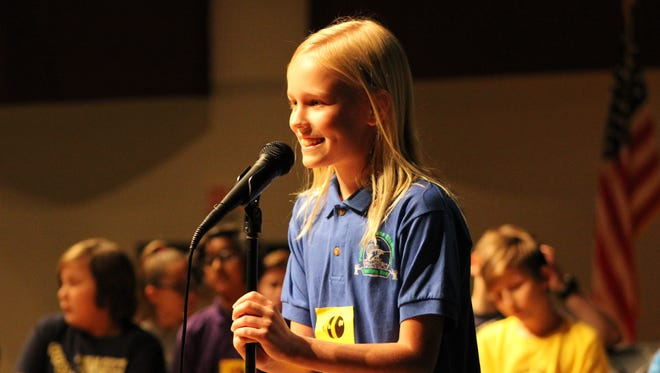 Felix A. Williams Elementary's Laila Mayfield won the Elementary Spelling Bee last year.