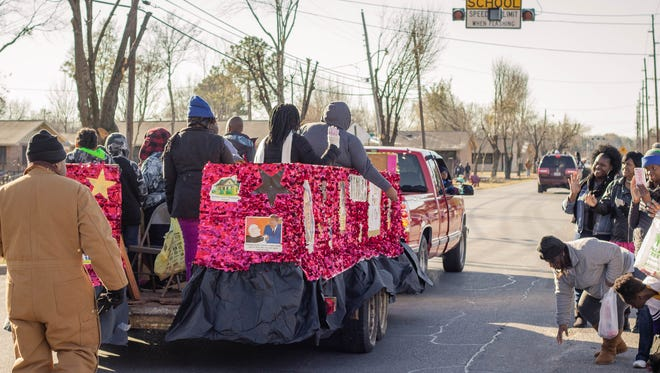 Community members gathered for the 34th Annual Martin Luther King Jr. parade in Monroe.