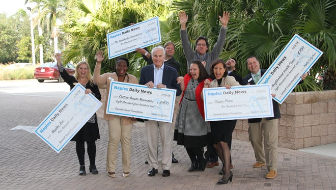 The Naples Daily News awards five local nonprofits with grant money on Jan. 19, 2018.