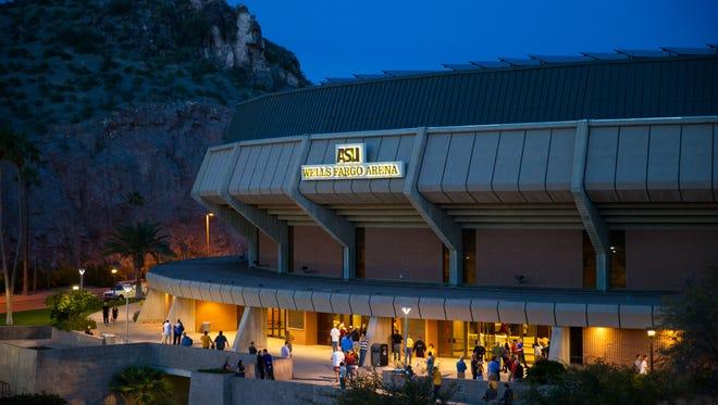 Wells Fargo Arena in Tempe.