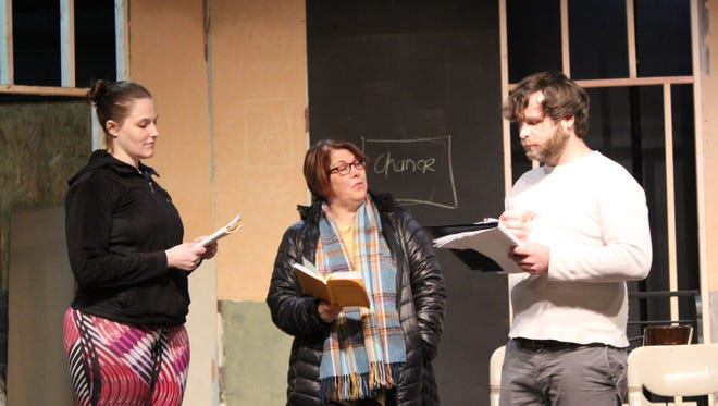 "Actors rehearse a scene from Cumberland Players' production of ""Boeing Boeing,"" which opens Feb. 2."