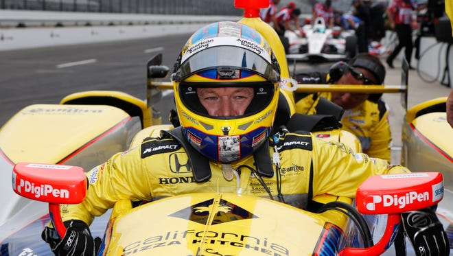Townend Bell during practice for the 2016 Indianapolis 500.