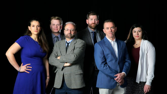 The journalists who worked on the Protecting the Shield project, from left to right, Susanne Cervenka, Andrew Ford, Paul D'Ambrosio, Alex Gecan, Ken Serrano, and Kala Kachmar