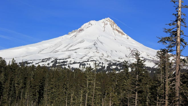 Mount Hood a little short on snow during 2014.