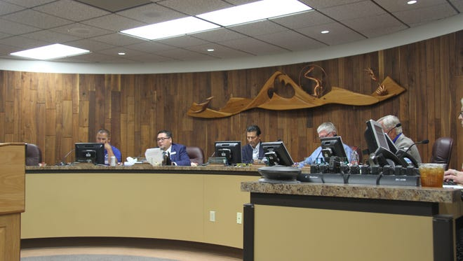 The Carlsbad Municipal Schools Board held a special board meeting Tuesday, Feb. 13, 2018. The board approved of superintendent Gregory Rodríguez to move forward with investigation allegations against Pecos Connections Academy.
