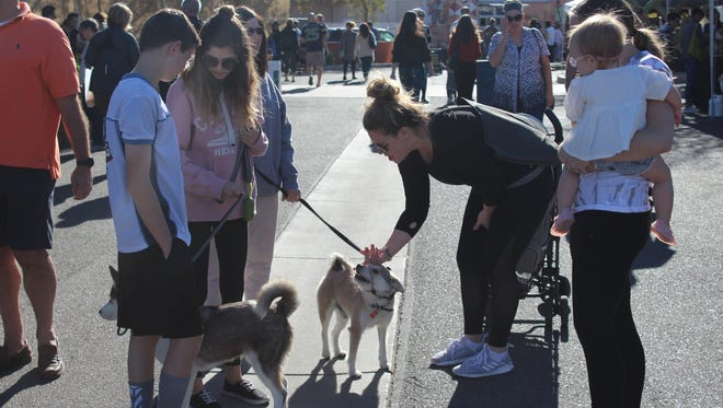 Keep your dogs safe this summer be being mindful of rising temperatures, hot pavement and more when taking them on outings, as this trip to the Gilbert Farmers Market.