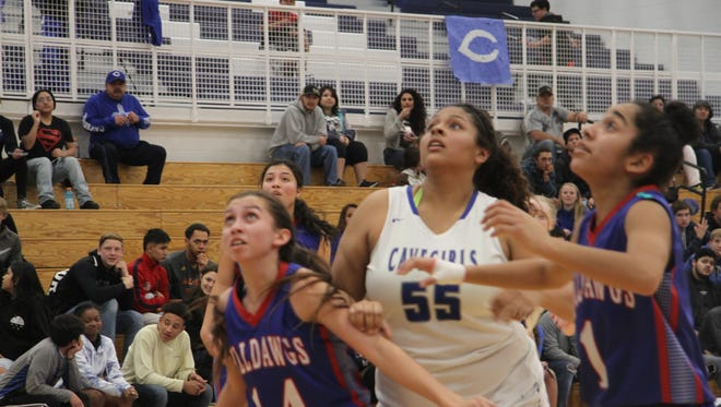 The Carlsbad Cavegirls defeated the Las Cruces Lady Bulldawgs in the second round of the district tournament, Feb. 22, 2018 at the Carlsbad High School Gym.