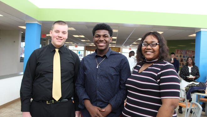 Travis Johnson (left), Marque Morris and Kennethia Riley were named Youths of the Year at their respective Boys & Girls Clubs. Riley earned the title of Youth of the Year for Central Minnesota and will compete at the state level in March.