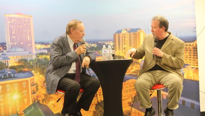 Tallahassee Democrat entertainment writer/columnist Mark Hinson interviews author James Patterson.