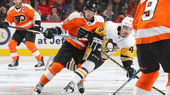 Travis Konecny and the Flyers will face the Pittsburgh Penguins in the first round of the playoffs.
