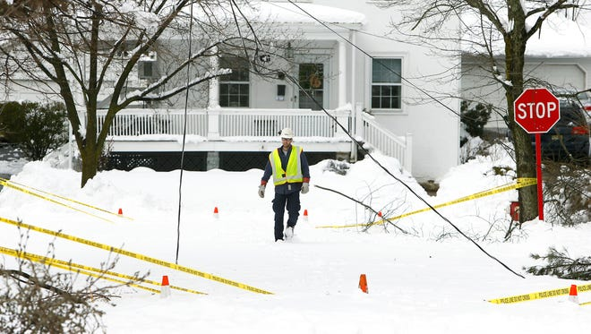 About 49,055 Morris County residents woke to no power Thursday morning, the day after a snowstorm walloped the area. With snowfall accumulations close to 2 feet in some Morris County towns, most schools remained closed along with courts and county government offices, except for essential workers. March 8, 2018.  Morristown, NJ.
