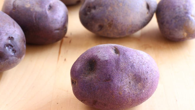 Purple potatoes.
