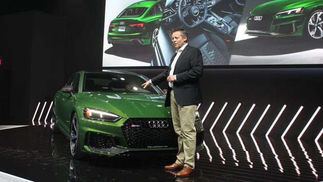 Michael-Julian Renz unveils the RS 5 Sportsback ahead of the New York International Auto Show.