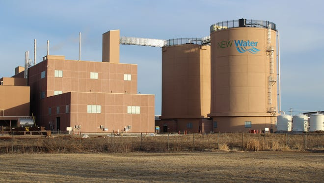 The biodigesters at the NEW Water wastewater treatment plant in Green Bay.