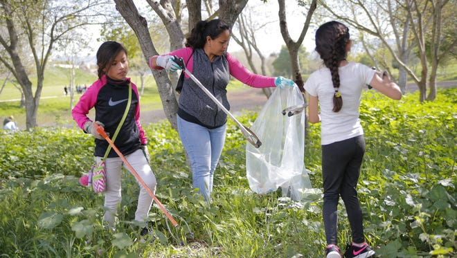 Volunteers gathered at Cesar Chavez Park in Salinas for an annual cleanup.