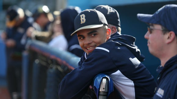 Beacon's Lenny Torres Jr in the dugout during Thursday's