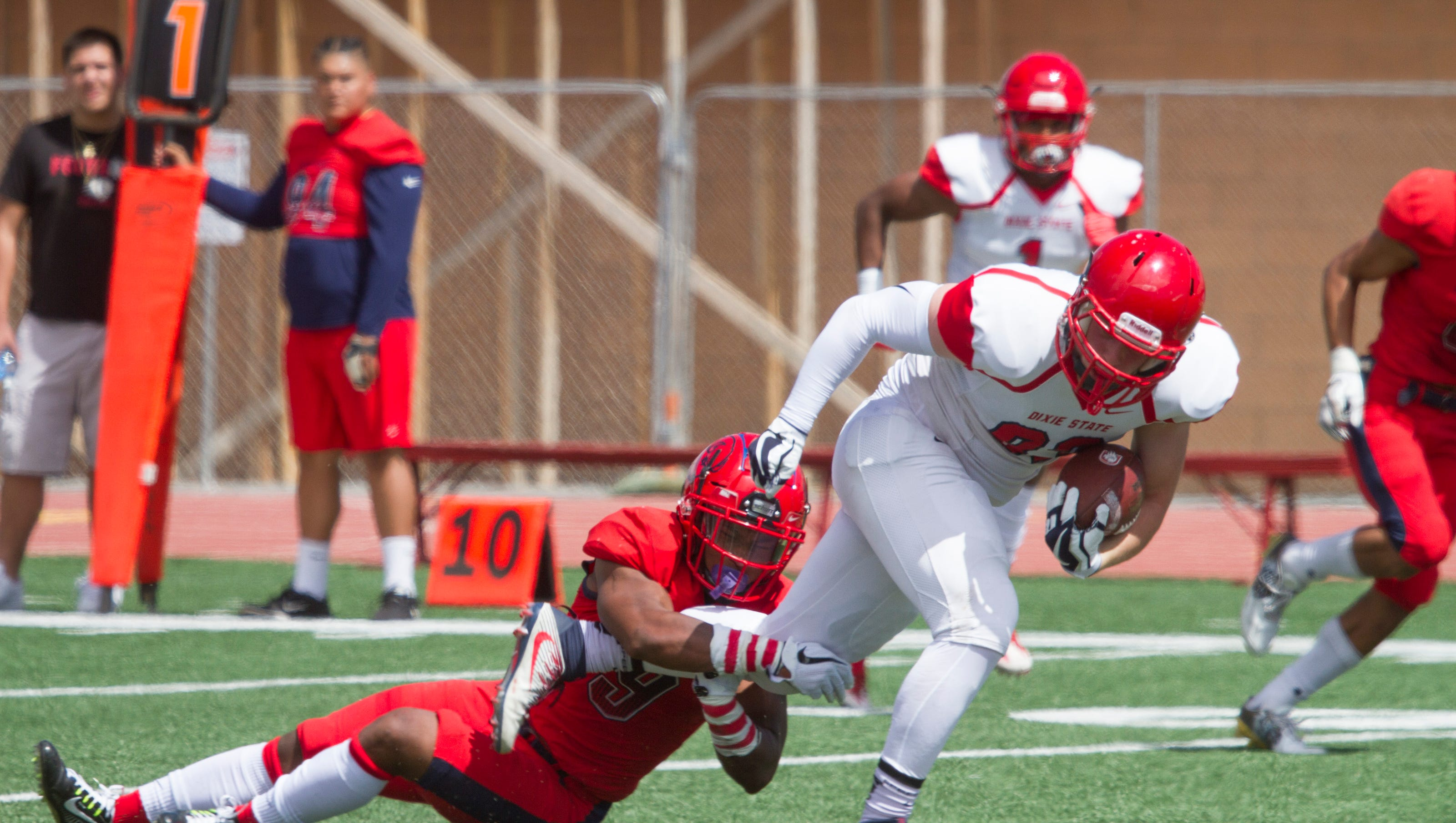 Dixie State Football Team Competes In Spring Game