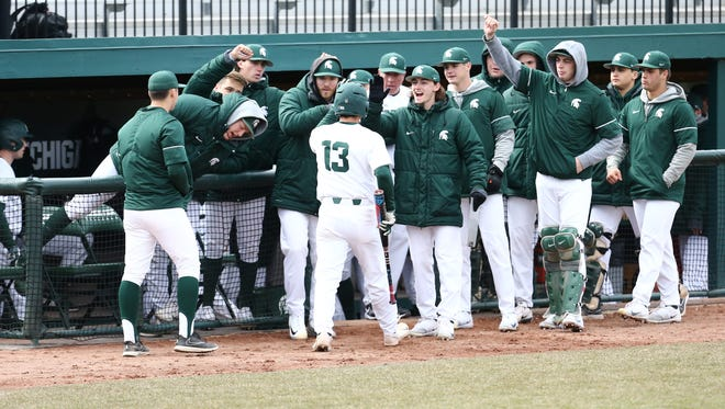 Michigan State's baseball team, like everyone else, has suffered through a spring of miserable weather.