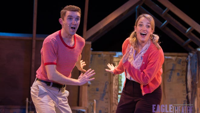 Will Connell of Philadelphia and Kimberly Suskind of Blackwood star in the musical drama John and Jen starting Friday at Cape May Stage in a traveling co-production with the Eagle Theatre of Hammonton.