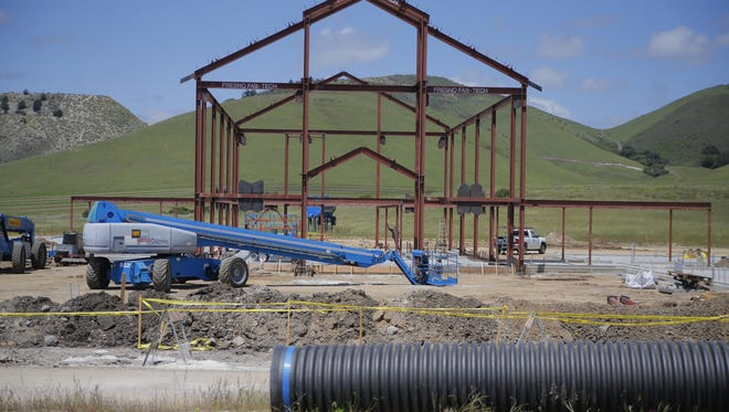 Construction underway for the Ted Taylor Vocational Ag Center at Rancho Cielo.