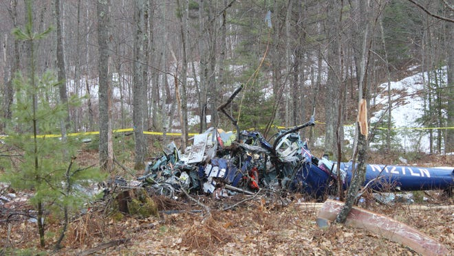 The Ascension Spirit medical helicopter crashed late Thursday in the woods near Hazelhurst.