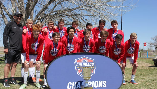 The Arsenal U15 team won the state cup title. Names were not provided.