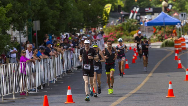 Downtown St. George is a great place to watch the Ironman race on May 5, 2018. Get there early to get a parking spot.