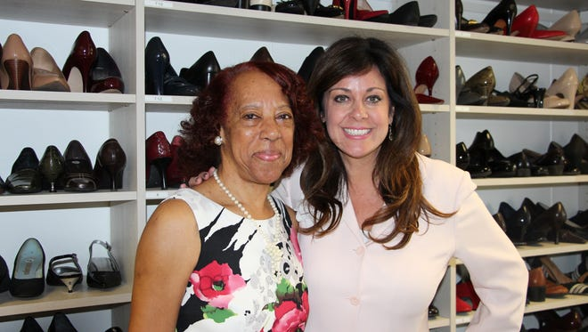 Melissa Tenzer (right), Executive Director of Dress for Success Central New Jersey, and Veronica Davis, a member of the Dress for Success of Central New Jersey's Professional Women's Group.