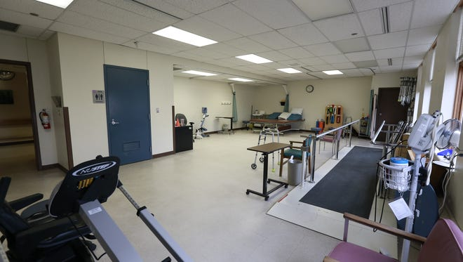 A physical therapy area inside Mount View Care Center in Wausau.