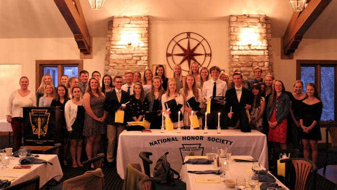 A group photo of the Gibraltar High School National Honor Society that includes the new members inducted May 11, 2018.