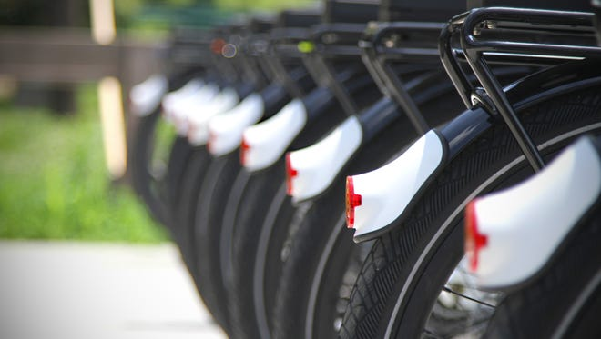 A file photo of a bike sharing program