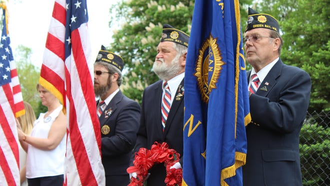 Green Bay-area veterans groups held a Memorial Day remembrance ceremony in front of the Tomb of the Unknown Soldier at Heritage Hill State Historical Park in Allouez on May 28, 2018.