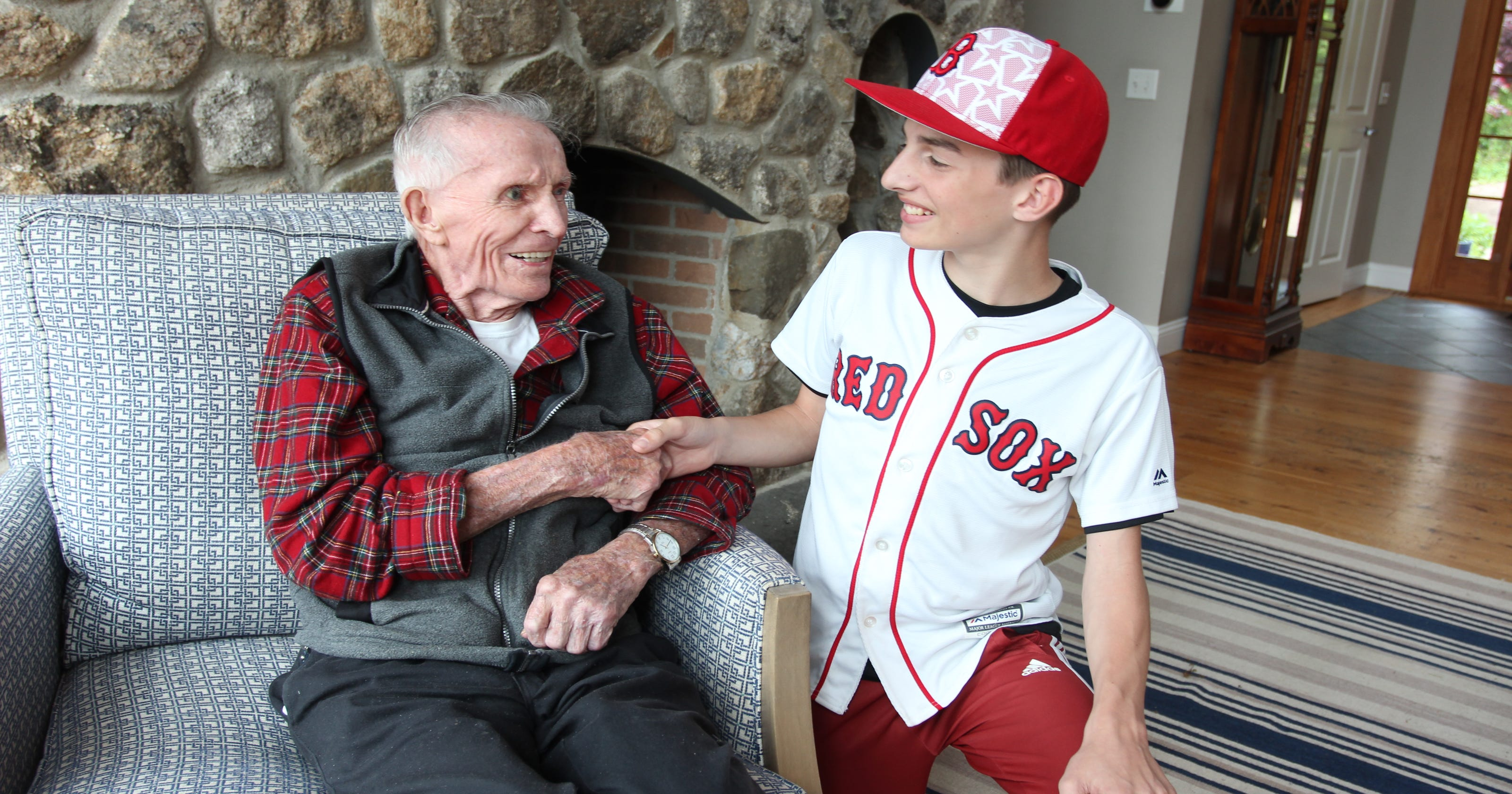 d590d518cc4 D-Day veteran (and Yankee fan) from Bradley Beach gets Red Sox honor