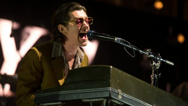 The Arctic Monkeys perform Friday night at the Firefly Stage at the 2018 Firefly Music Festival at The Woodlands in Dover.