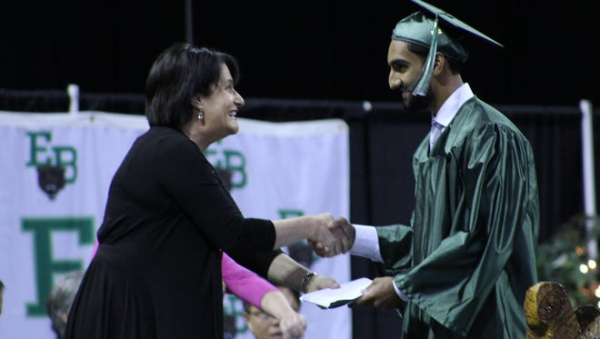 East Brunswick High School held graduation exercises for its Class of 2018 on June 21 at the Cure Insurance Arena in Trenton.