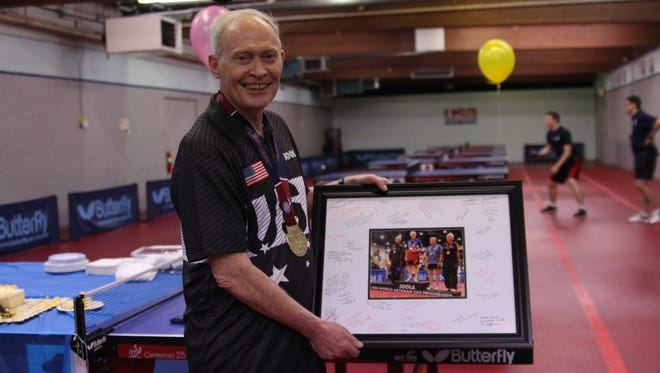 Richard Hicks at the Table Tennis Club of Indianapolis.